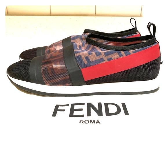 Fendi Runway Mesh Ff Trainer Sneaker
